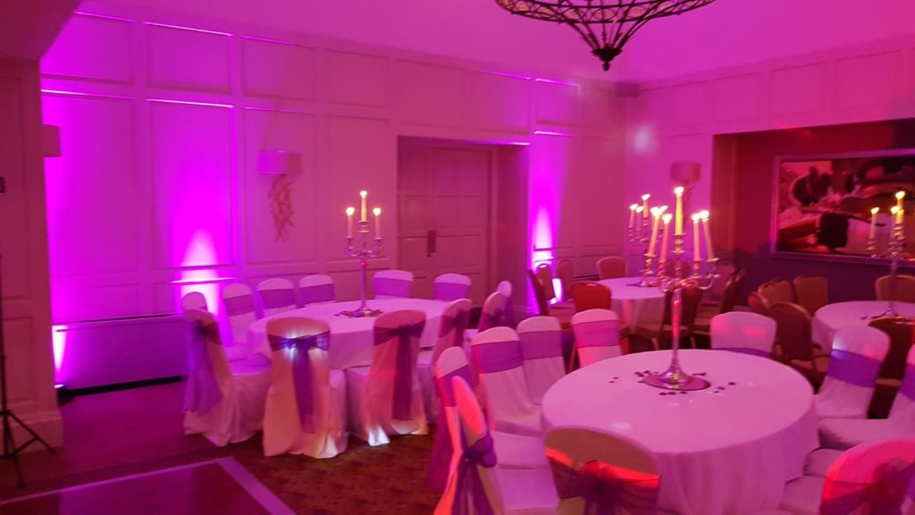 Mood lighting hire for events in Glasgow and Edinburgh